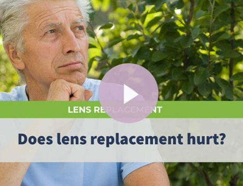 Does lens replacement hurt?