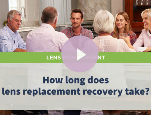 How long does lens replacement recovery take?