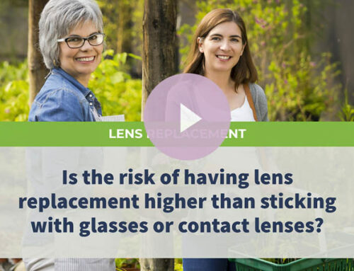 Is the risk of having lens replacement higher than sticking with glasses or contact lenses?