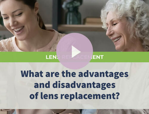 What are the advantages and disadvantages of lens replacement?