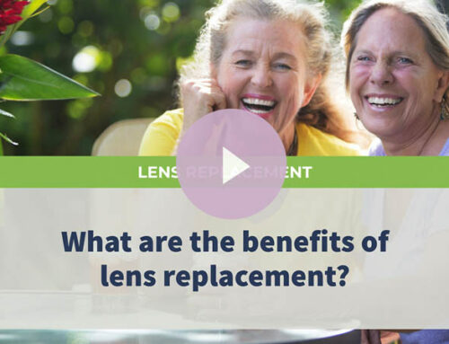 What are the benefits of lens replacement?