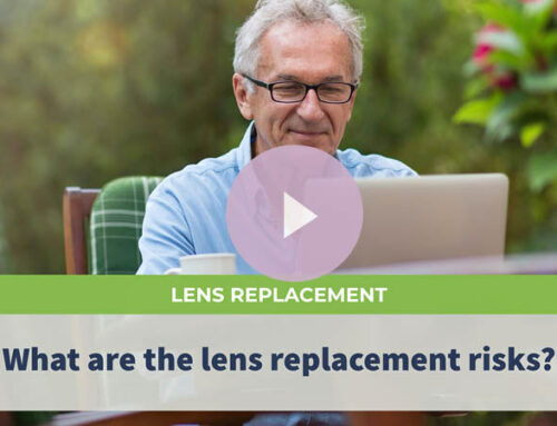 What are the lens replacement risks?