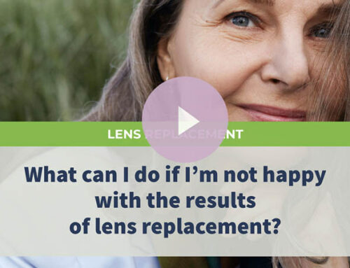 What can I do if I'm not happy with the results of lens replacement?