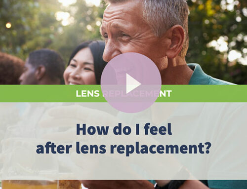 How do I feel after lens replacement?